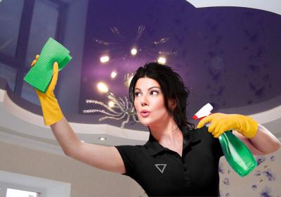Натяжной потолок: как мыть и ухаживать